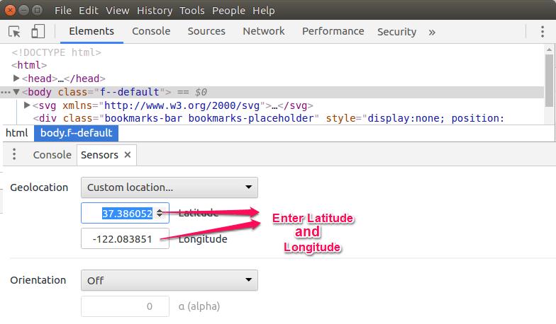 Fake Your Location in Google Chrome | ByteNbit