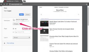 Save Location Option for Google Drive | ByteNbit