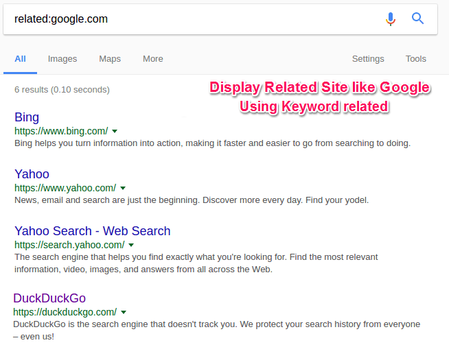 Search Google like Pro: Find related site