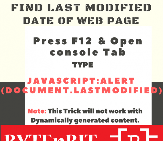 Last Modified Date Of WebPage