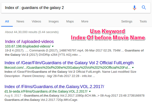 To find movie links instantly