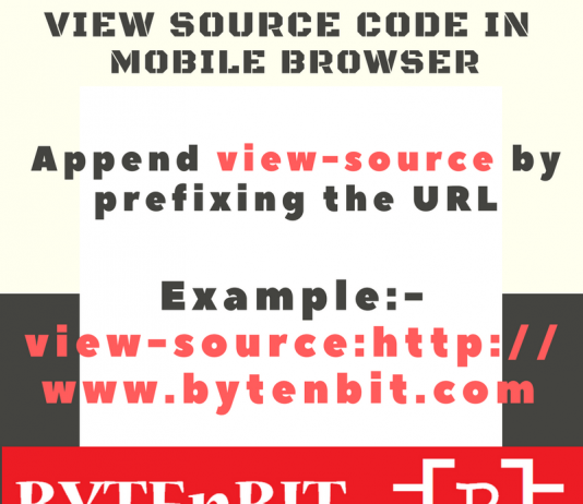 View Source Code in Mobile
