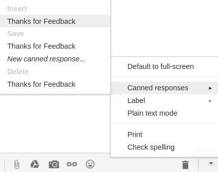 Caned Response Gmail Labs