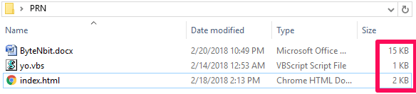 Undeletable Folder data size